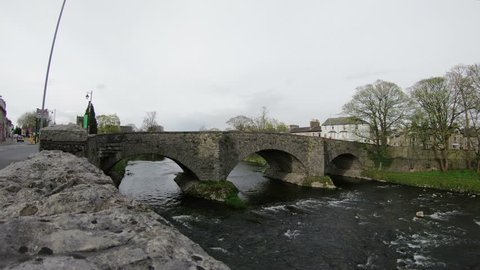 River Kent Timelapse.  A timelapse recording of the River Kent flowing under Nether Bridge in Kendal, Cumbria, northern England.