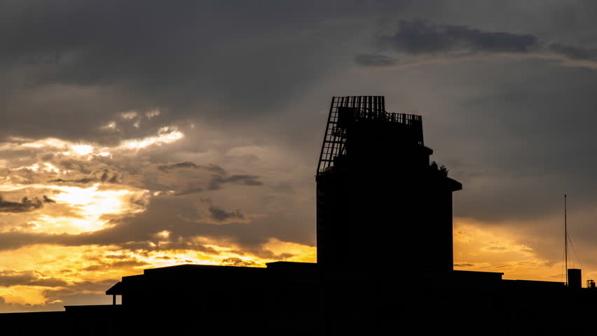 Building with sunset 4k | Shutterstock HD Video #1011270488
