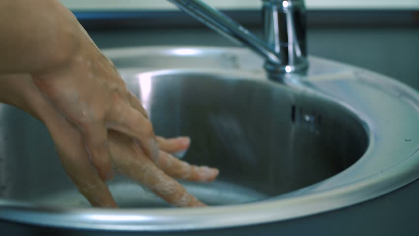 hands washing and disinfection