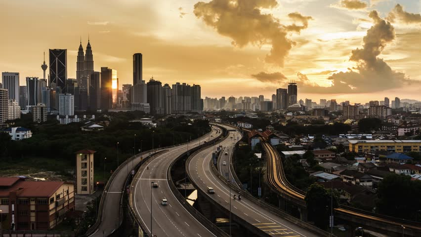 Stock video of time lapse of sunset in kuala 10112948 shutterstock publicscrutiny Images