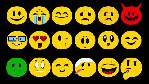 Emoji Full Set black