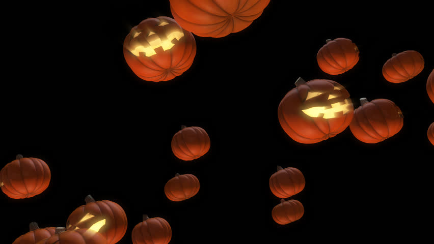 Halloween animation background. You can use it for a technology, stage, communication or social media background. Seamless loop. | Shutterstock HD Video #1011365018
