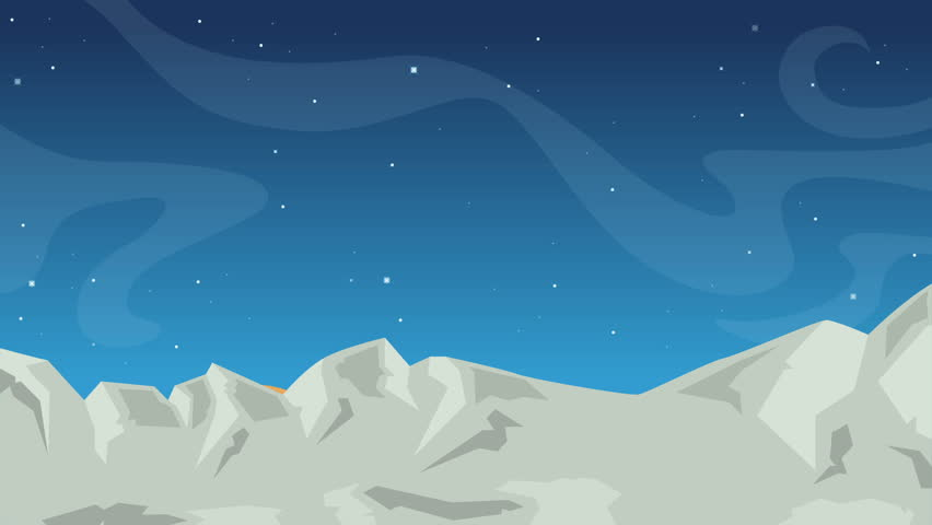 Stars in space with animated cartoon objects on blue background   Shutterstock HD Video #1011394628