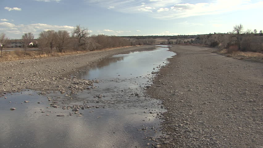Dry River Stream, North Platte River in Wyoming