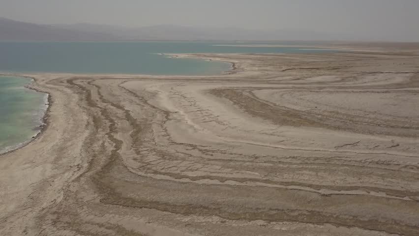 Dead sea desert 4k aerial view ungraded flat | Shutterstock HD Video #1011483188