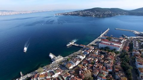 Prince Island amazing drone view at summer time sunny weather istanbul turkey