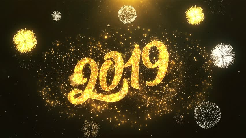 Happy New Year 2019Mp4 Greeting Stock Footage Video 100 -9232