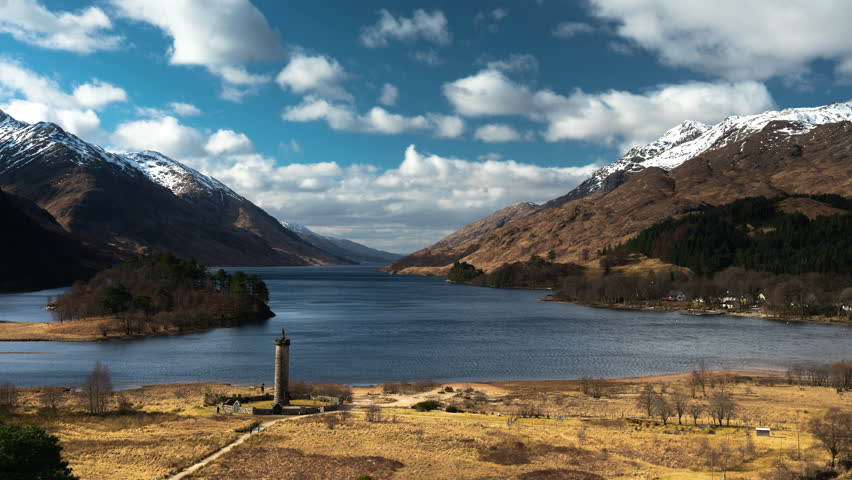Establishing Shot - Timelapse of Loch Shiel and the Glenfinnan Monument