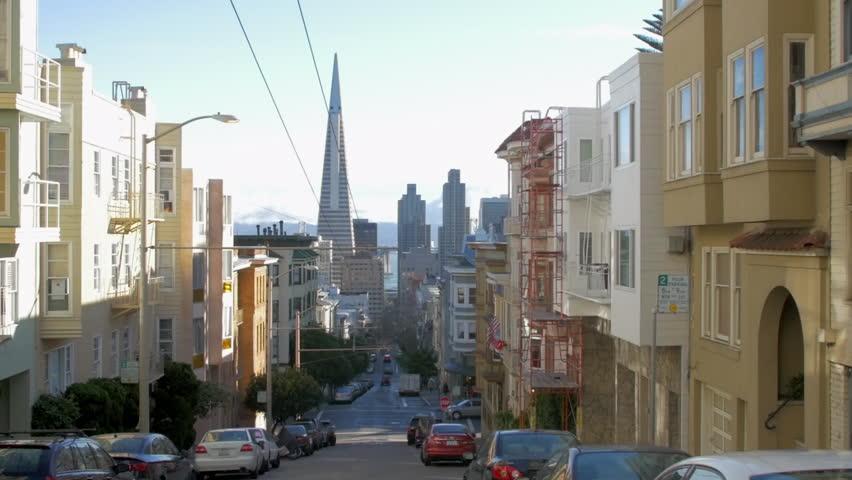 Pan: Riding Street Cable Car Through San Francisco   Shutterstock HD Video #1011619958