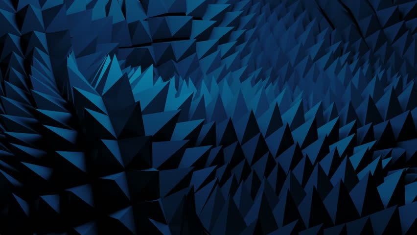 3d abstract background with sharp spike shapes on the displacement wavy surface. Loopable morphing animation. | Shutterstock HD Video #1011656408