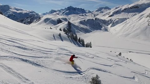 Skiing in the German Alps