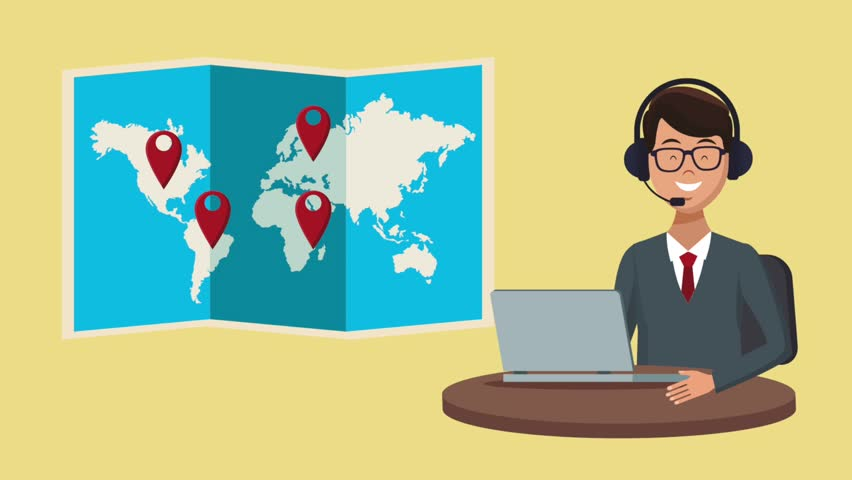 Travel call center agency HD animation