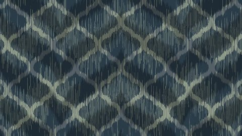 Dark Moroccan Ikat Pattern with Moving Sawtooth Shadow