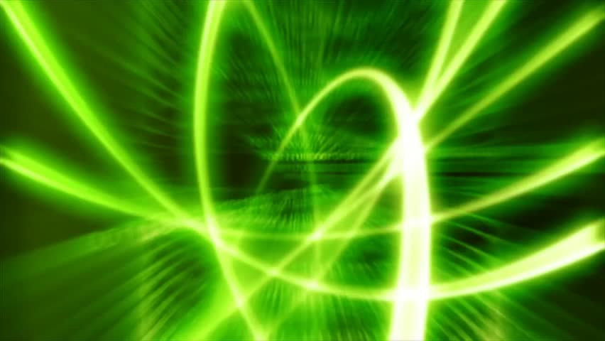 lights lines green abstract