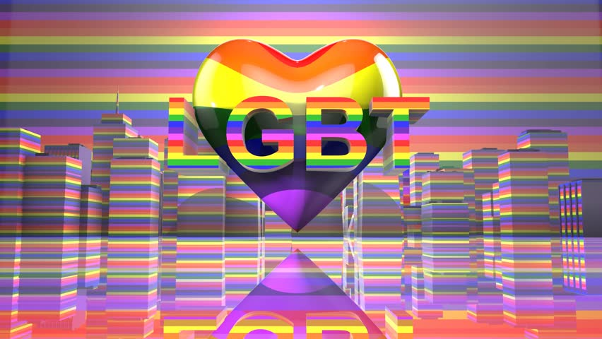 LGBT Gay Pride Mardi Gras graphic title 3D render. The letters LGBT & LGBTQIA refer to lesbian, gay, bisexual, transgender, queer or questioning, intersex, and asexual or allied.