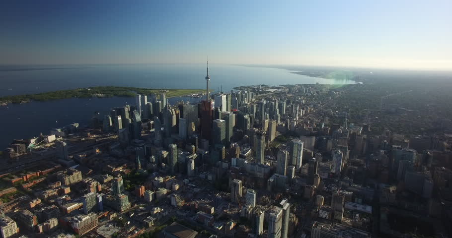 Aerial of Downtown Toronto Skyline 4K | Shutterstock HD Video #1011999668