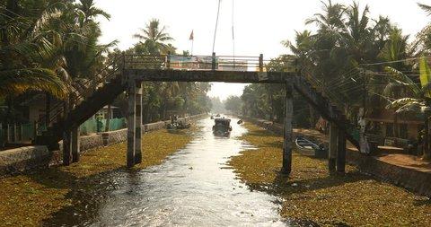 Boat journey Kerala India