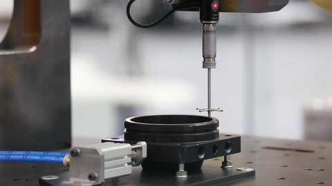 Moscow, Russia - May, 2018: Renishaw spindle probe with long ruby tipped stylus