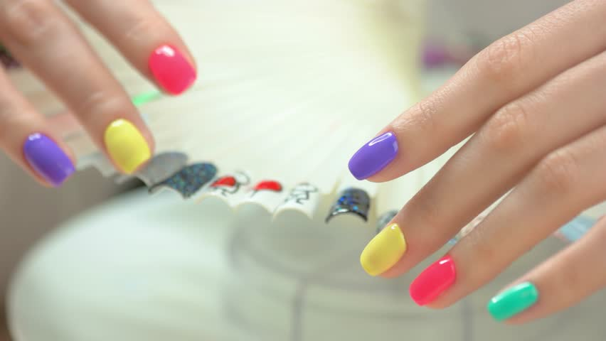 Summer Nail Design Royalty Free Stock Video In 4k And Hd Shutterstock