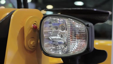 tractor headlight at the exhibition