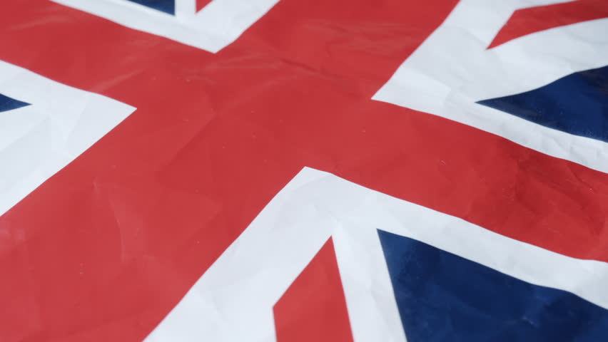 British Union Jack banners extreme close up stock footage | Shutterstock HD Video #1012181138