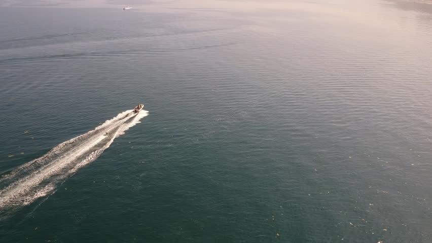 Speedboat in Dublin Bay, Ireland  | Shutterstock HD Video #1012188158