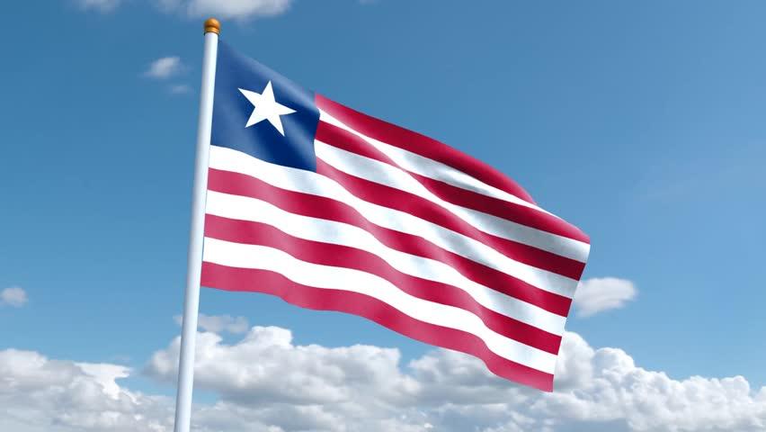 Liberian Waving Flag Stock Footage Video (100% Royalty-free) 1012225418 |  Shutterstock