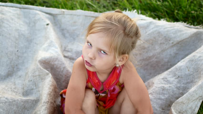 Child Portrait at Village Country Girl Outdoor Nature 4K | Shutterstock HD Video #1012285358