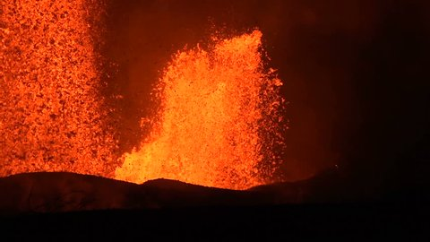 Volcanic eruption of Kilauea volcano in Hawaii at the end of May 2018, Fissure 8
