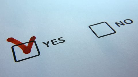 Yes And No Checkbox Marking Survey Yes