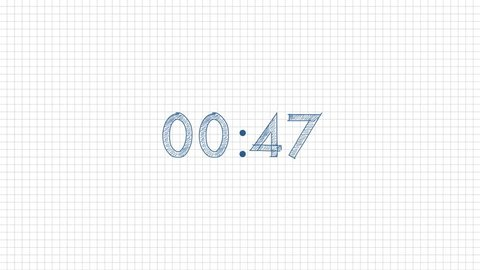Handwritten countdown sketch.