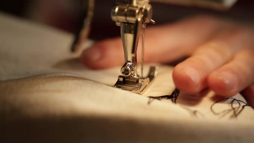 Hand sewing machine close up | Shutterstock HD Video #1012417958