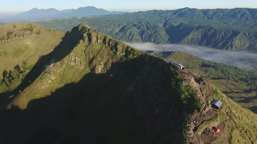 Crater at the Peak of Active Volcano Mount Batur | Shutterstock HD Video #1012550948