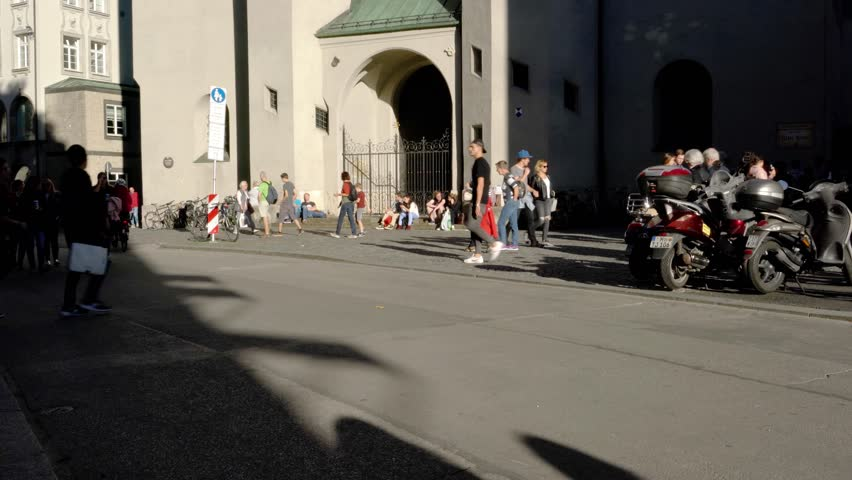 Munich, Germany - October 14, 2017: St Peter's Church gothic cathedral, symbol of city