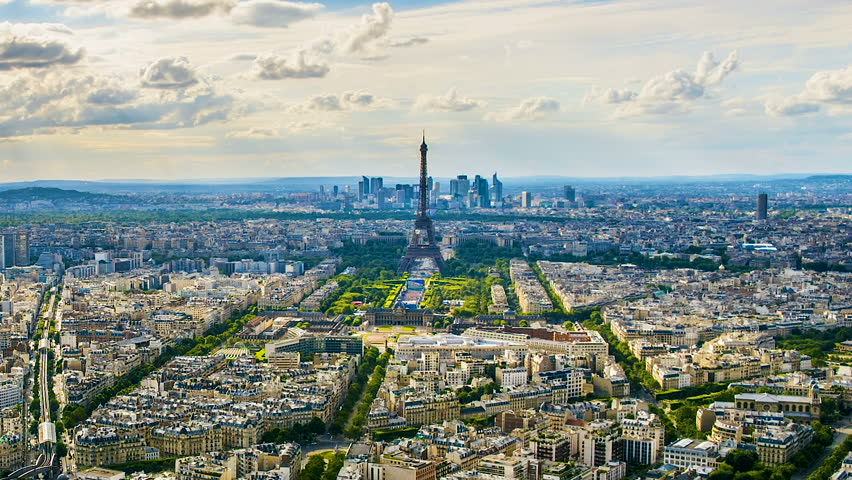 Paris cityscape, amazing view of famous Eiffel Tower and buildings, sightseeing | Shutterstock HD Video #1012663718