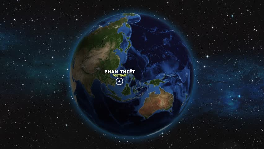 VIETNAM PHAN THIET ZOOM IN FROM SPACE | Shutterstock HD Video #1012726628