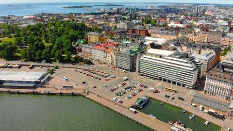 Helsinki Finland, scenic aerial view.