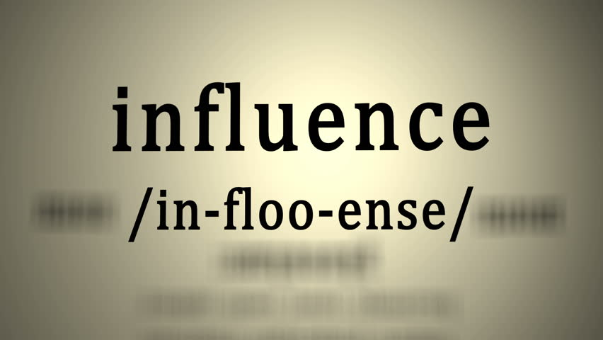 This animation includes a definition of the word influence.