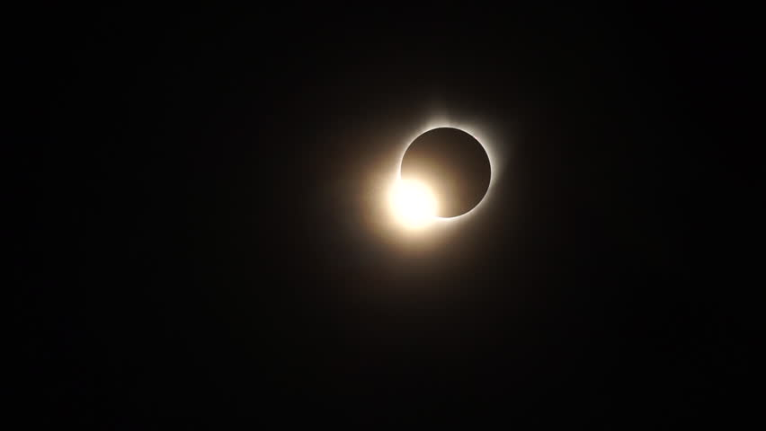 The total solar eclipse of August 21st 2017 as seen from Casper, Wyoming, USA. | Shutterstock HD Video #1012823708