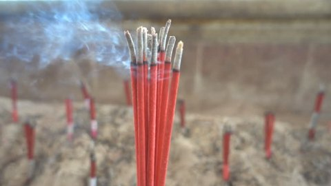 The incense which was offered in the Holy Temple slow motion