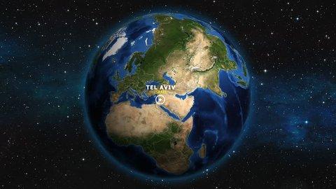 ISRAEL TEL AVIV ZOOM IN FROM SPACE