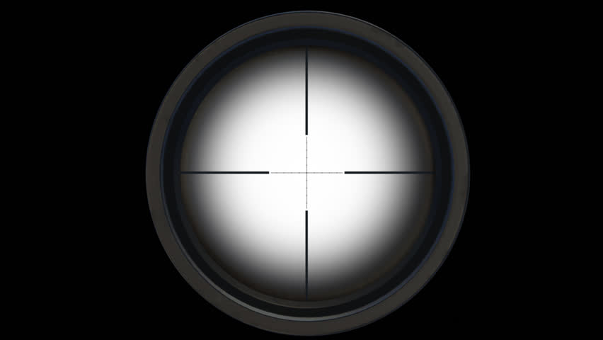 Sniper Scope. Gun Sight. Alpha Channel Included. Looped. Easy to use.