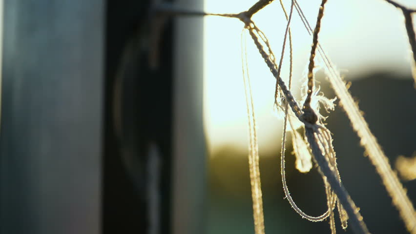 Close up view of soccer net and goal post | Shutterstock HD Video #1012934828