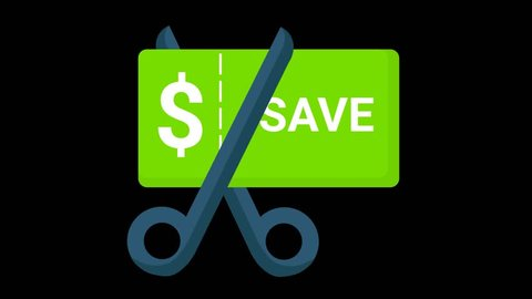 Clipping a saving coupon Animated Icon