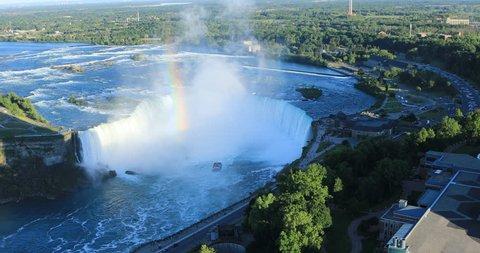 Aerial of Horseshoe Falls, Niagara Falls