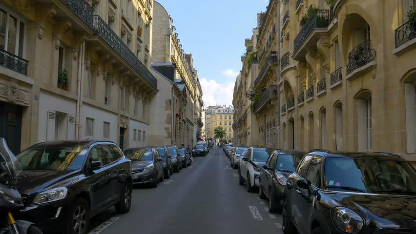 Paris, France - May 2018: Rue du Regard