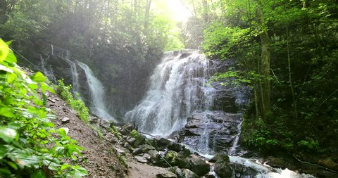 Beautiful waterfall in Great Smoky Mountains National Park