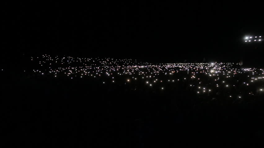 Crowd With Lights At Concert