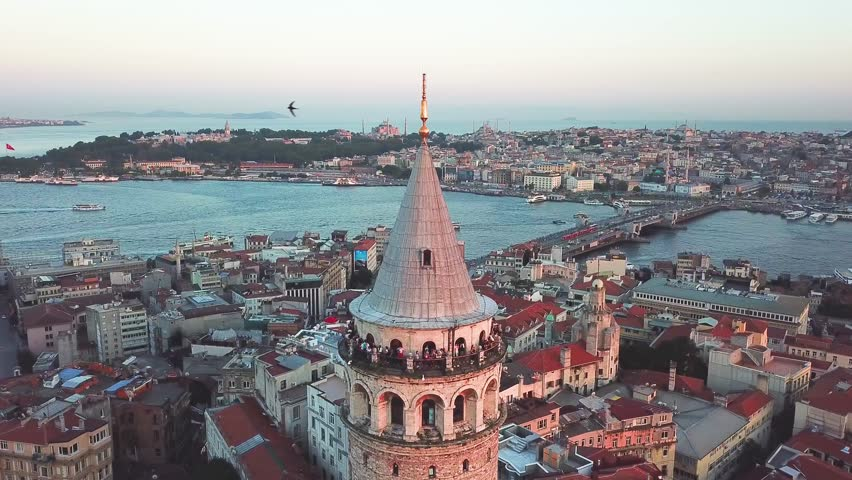 Galata Tower, Istanbul, Turkey | Shutterstock HD Video #1013205758