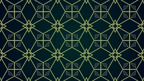 Vintage style Mandala art animated pattern background, useful for motion graphics, wedding, birthday, invitation. Looped Mandala pattern Background, Retro style Mandala design animation background.